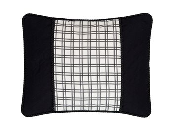 Bouvier Plaid & Black Breakfast Pillow