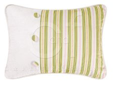 The Embroidered Garden Striped Pillow