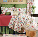 The Embroidered Garden Twin Quilt