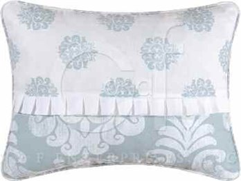 Providence Chambray Embroidered Pillow