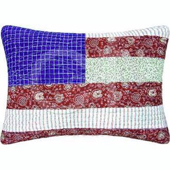 Print Patchwork Flag Pillow