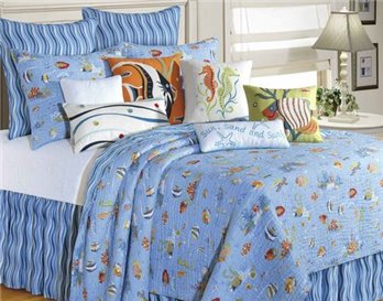 Reef Paradise Twin Quilt