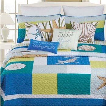 Blue Oasis Full Queen Quilt