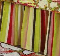 Alessandra Stripes Queen Bedskirt