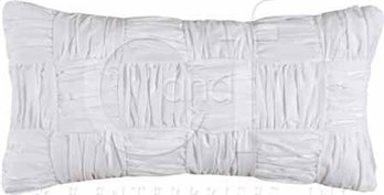Bianca Shirred Blocks Rectangular Pillow