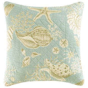 Natural Shells Quilted Pillow