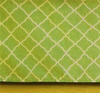 Green Lattice King Bedskirt