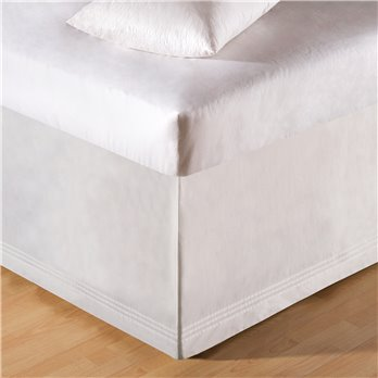 White Pintucked Queen Bedskirt