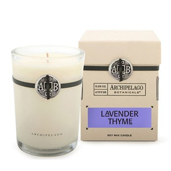 Archipelago Lavender Thyme Soy Boxed Candle