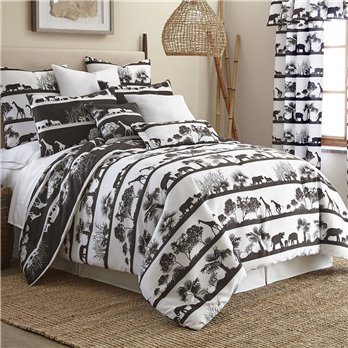 African Safari Duvet Cover Set Reversible California King