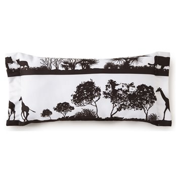 African Safari Long Rectangle Pillow - White Safari