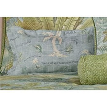Bahamian Surf Rectangular Accent Pillow