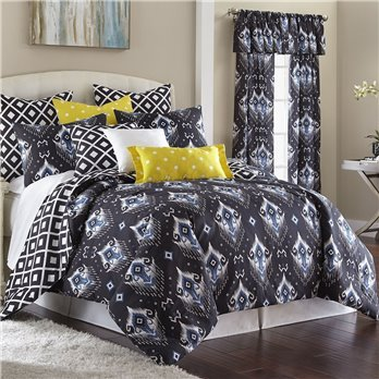 Blue Falls Comforter Set Reversible Queen