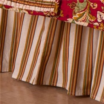 Jocelyn Red King Bedskirt