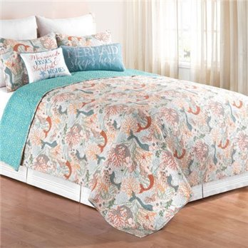 Dancing Waters Full Queen 3 Piece Quilt Set