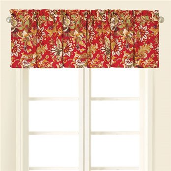 Jocelyn Red Valance