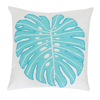 Palm Beaded Single Leaf Pillow