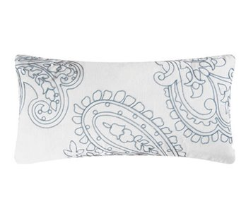 Aqua Paisley Pillow