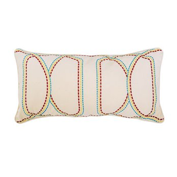Lucianna Embroidered Dashed Pillow