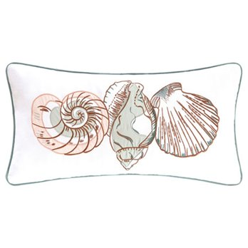 Breezy Shores Three Shells Pillow