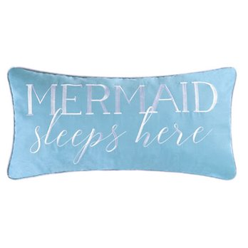 Dancing Waters Mermaid Sleeps Here Pillow