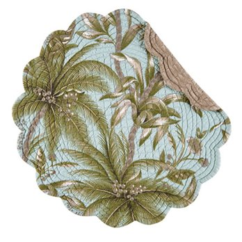 Barbados Sea Round Quilted Placemat