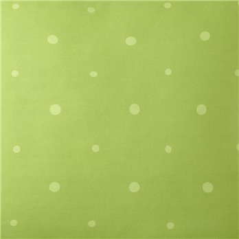 Poppy Plaid Green Polka Dot Fabric Per Yard