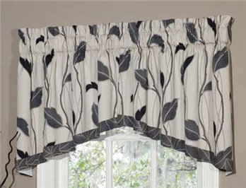 Yvette Eclipse Lined Crescent Swag Valance