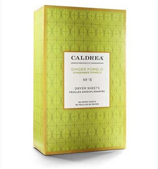 Caldrea Ginger Pomelo Dryer Sheets