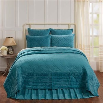 Eleanor Teal King Quilt 95x105