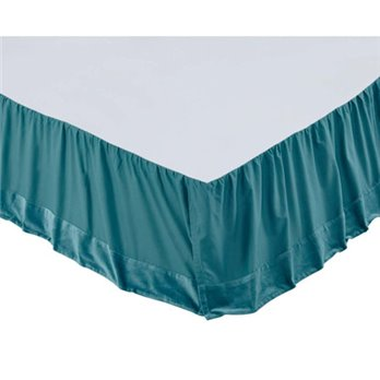 Eleanor Teal King Bed Skirt 78x80x16