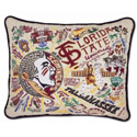 FSU Embroidered Pillow