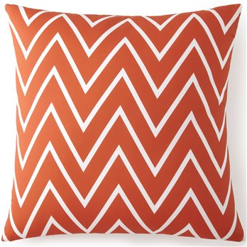 Flamingo Palms Euro Sham - Orange Zigzag