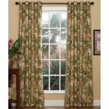 La Selva Natural Lined Grommet Curtains