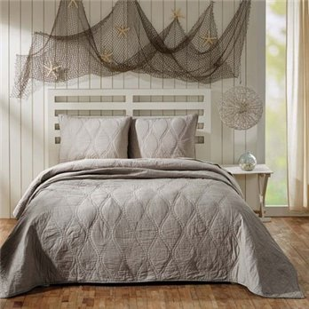 Harbour Grey King Quilt 95x105