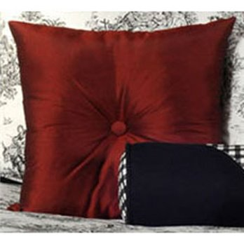 Jamestown Red Square Accent Pillow