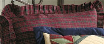 Burgundy & Green Plaid Euro Sham for Whispering Pines Quilt