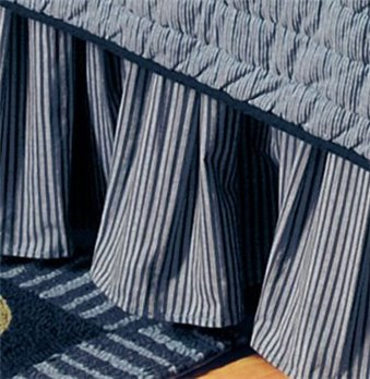 Blue Stripe Full Bedskirt for Atlantic Isle