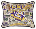 LSU Embroidered Pillow