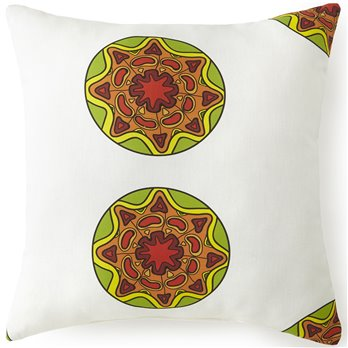 "Mexican Fiesta Medallion Square Pillow 18""x18"""