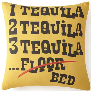 "Mexican Fiesta Tequila Square Pillow 20""x20"""