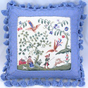 Colonial Farm Needlepoint Pillow, 16 inch square