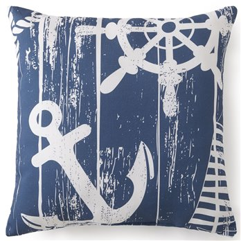 "Nautical Board Square Cushion 18""x18"" - Main Print"