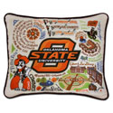Oklahoma State Embroidered Pillow