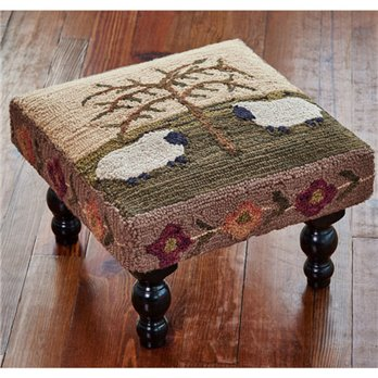 Willow And Sheep Hooked Stool