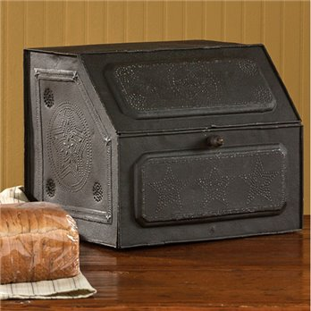 Black Star Metal Bread Box