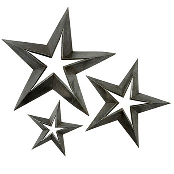 Antique Tin Stars set of 3
