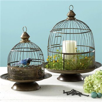 Bird Cage Cloches set of 2