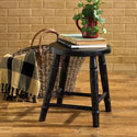 Farm Stool Aged Black Set of 2