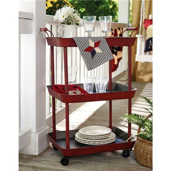 Red Utility Cart